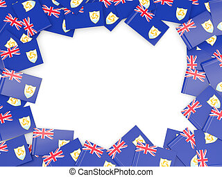 Frame with flag of anguilla