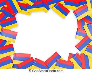 Frame with flag of armenia