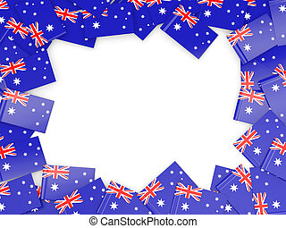 Frame with flag of australia