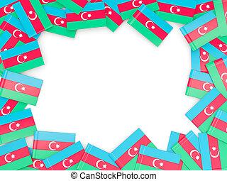 Frame with flag of azerbaijan