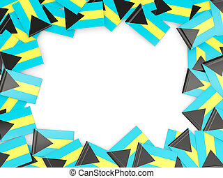 Frame with flag of bahamas
