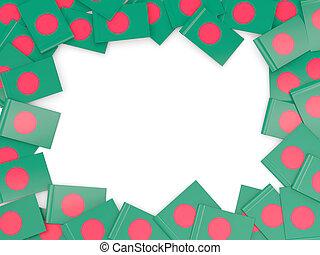 Frame with flag of bangladesh