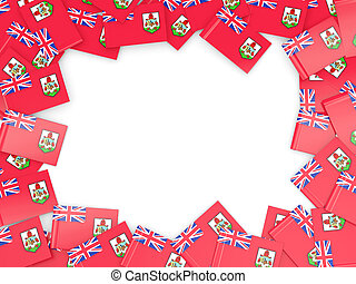 Frame with flag of bermuda