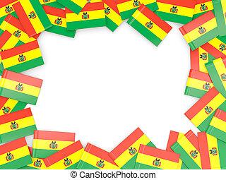 Frame with flag of bolivia