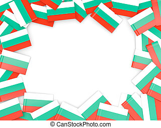 Frame with flag of bulgaria