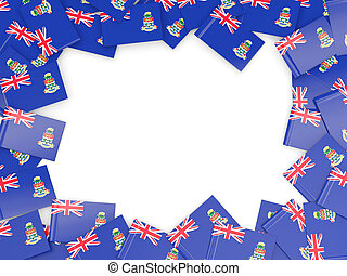 Frame with flag of cayman islands