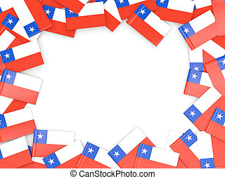 Frame with flag of chile