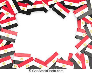 Frame with flag of egypt
