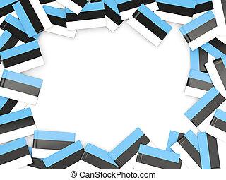 Frame with flag of estonia