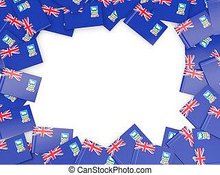 Frame with flag of falkland islands