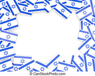Frame with flag of israel