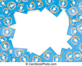 Frame with flag of northern mariana islands