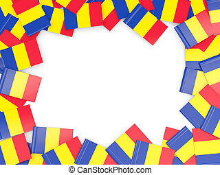 Frame with flag of romania