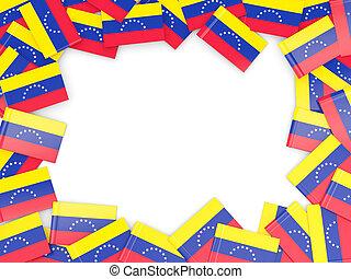 Frame with flag of venezuela