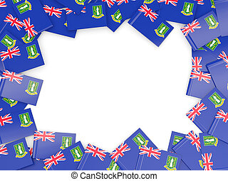 Frame with flag of virgin islands british isolated on white