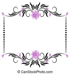 Frame with floral ornament