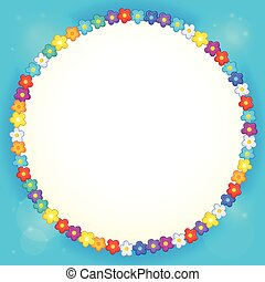 Frame with flower theme 4