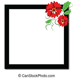 Frame with flowers.