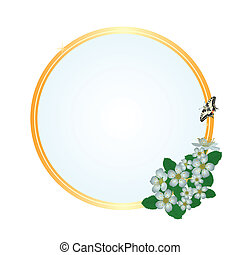 Frame with flowers of apple