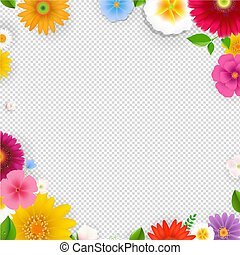 Frame With Flowers Transparent Background