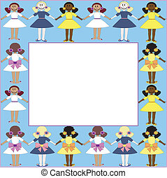 Frame with girls