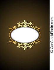 frame with gold ornament