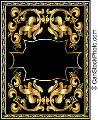 frame with gold pattern