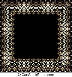 Frame with gold pattern on a black background