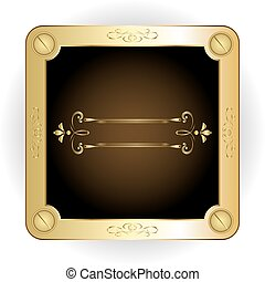frame with gold rim