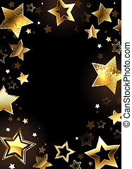 Frame with gold stars