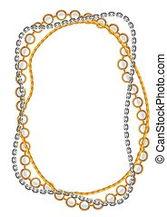 Frame with golden chains.