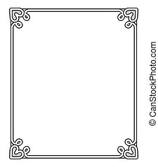 Frame with Heart-shaped Figure Vector Illustration