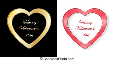 Frame with heart Valentine card3