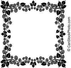 hop - frame with hop cones