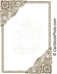 Frame with Indian patterns