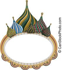 Frame with Kremlin Domes