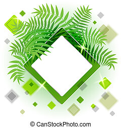 Frame with leaves for your message
