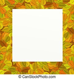 Frame with leaves in the background