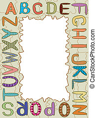 Frame with lettersCMYK
