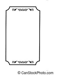 frame with ornament on white background