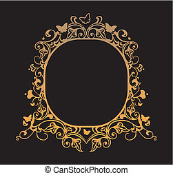 Frame with patterns of butterflies