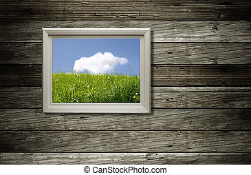 frame with picture - special toned and vignetting, made from...