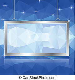 frame with polygonal background