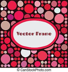 Frame with random colored circles - Frame with random...