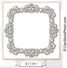 frame with retro ornament