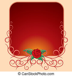 Frame with rose