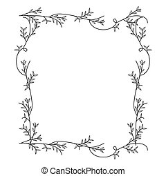 frame with silhouette creepers nature design