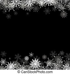 Frame with small snowflakes layered - Christmas frame with...