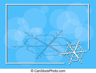 Frame with snowflake in the corner