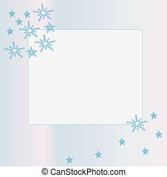 Frame with snowflakes.